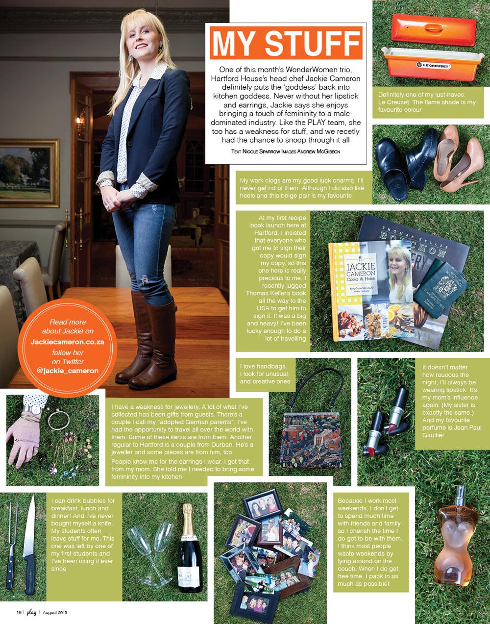 Play Magazine - Jackie Cameron - My Stuff