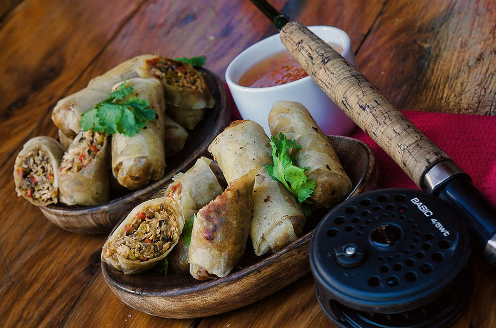 Trout Spring Rolls & Sweet Chilli Sauce