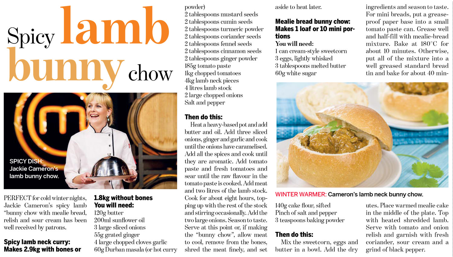 Spicy Lamb Bunny Chow