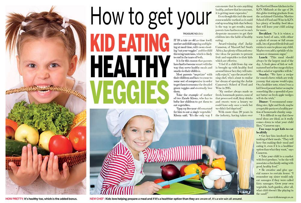 Kids Eating Healthy Vegetables