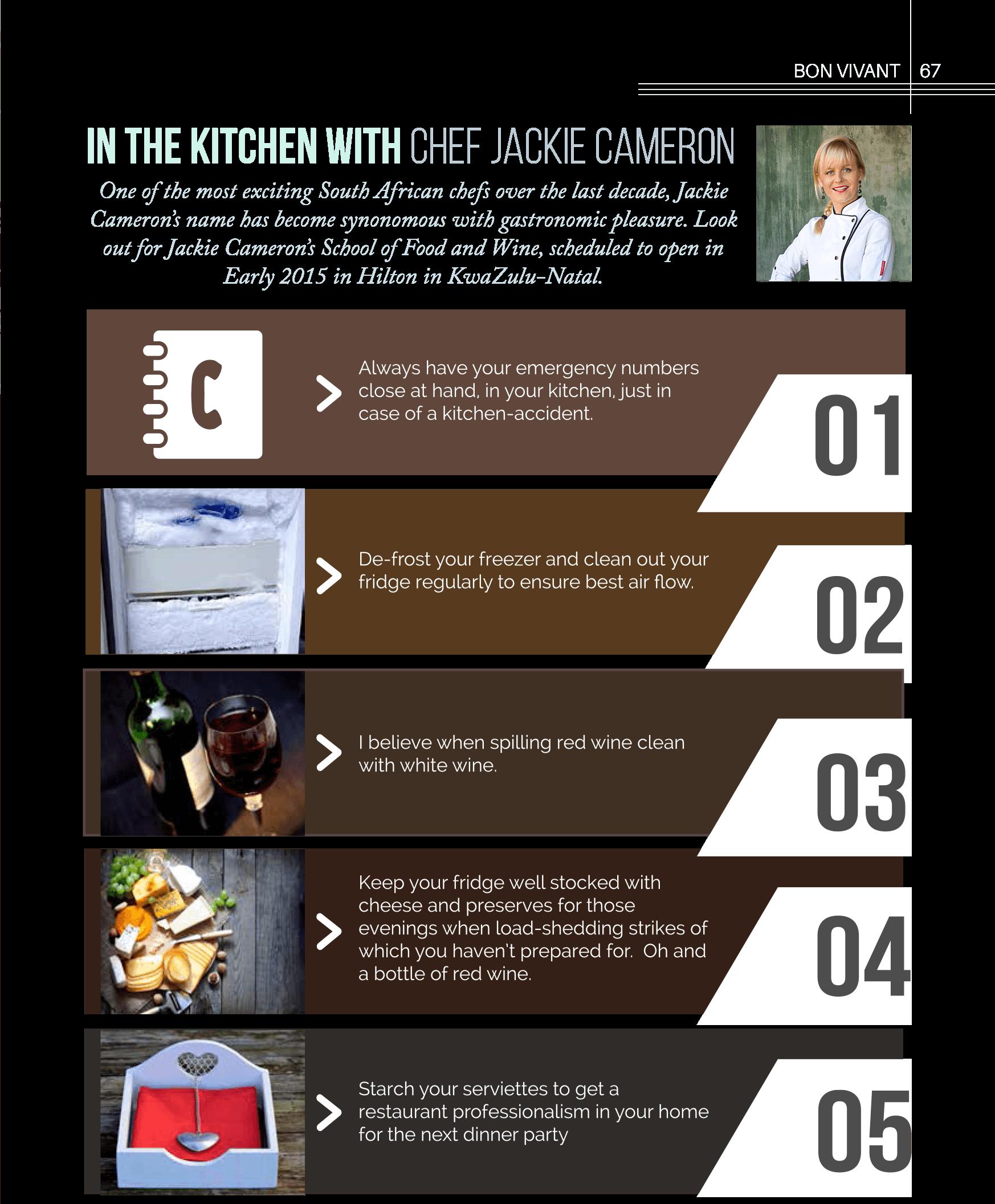 Bon Vivant Cooking Tips