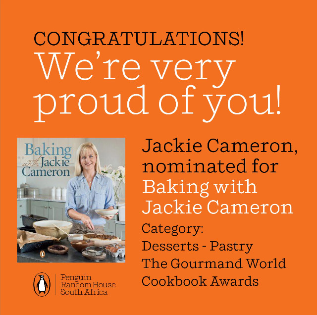 Baking with Jackie Cameron - The Gourmand World Cookbook Awards
