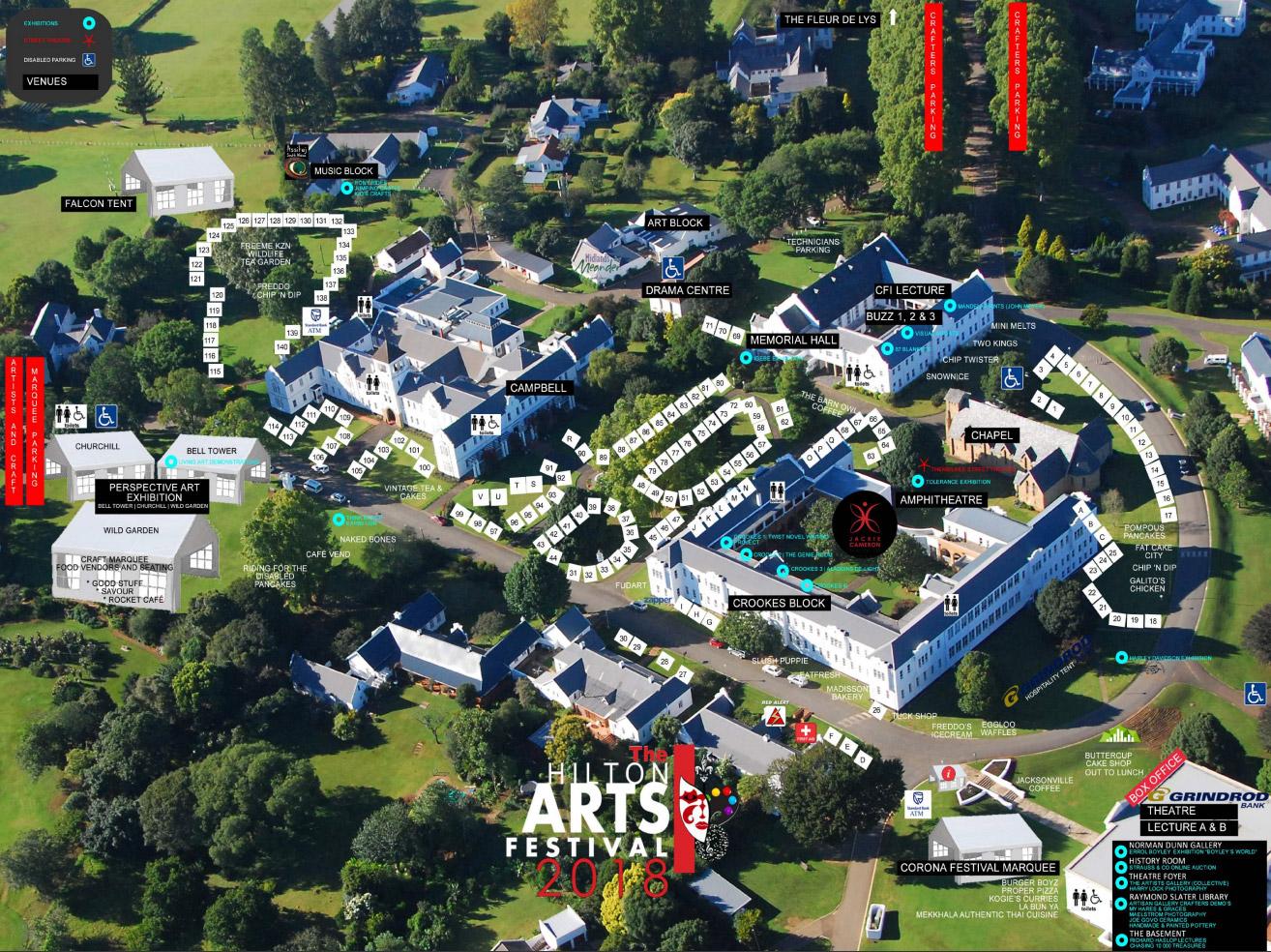 Hilton Arts Festival Map