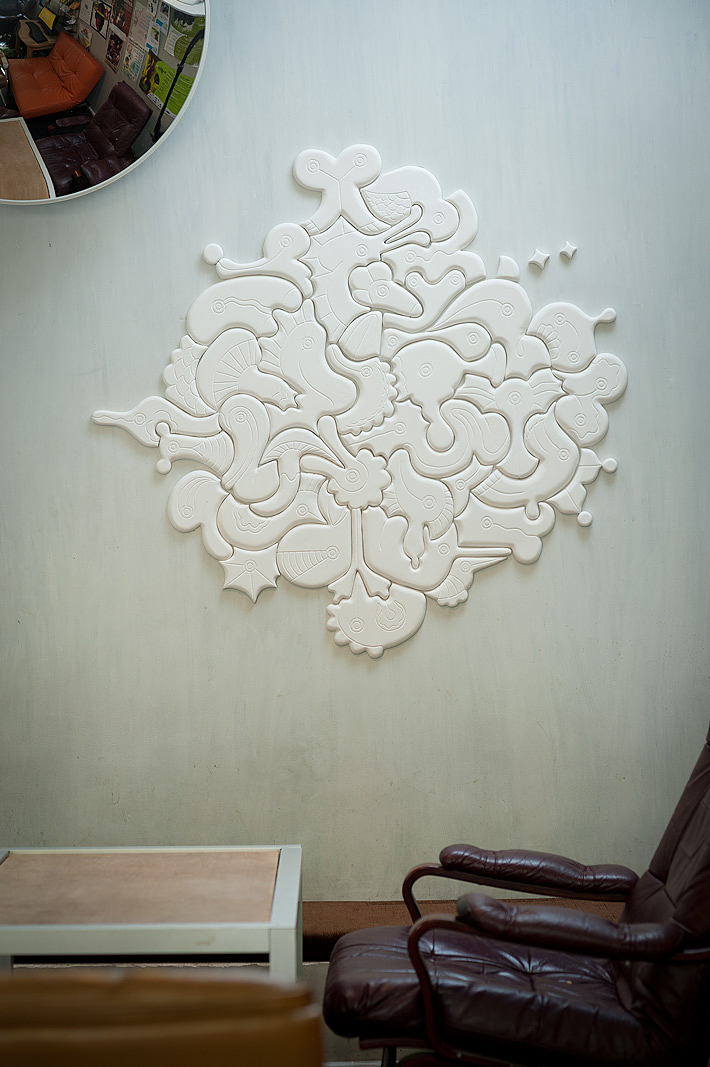"Bas-relief ""Spawn"" for a coffee shop. Photo by  Darius Petrulaitis"