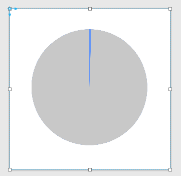 Next circle hides a portion of the bottom circle