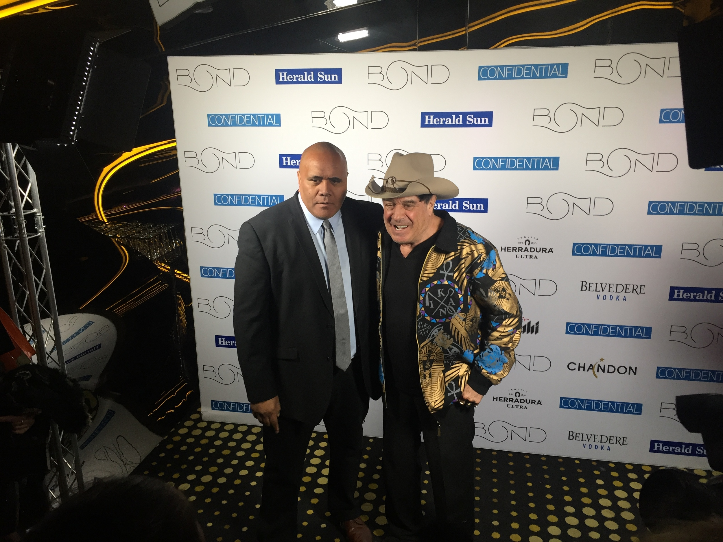 Nui with Molly Meldrum.