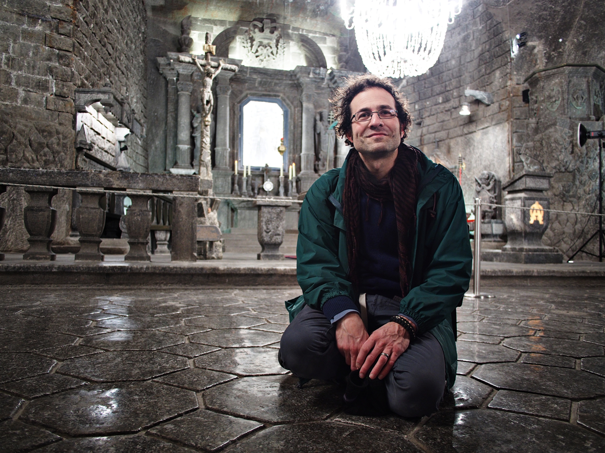 Mr. Greg Milo ponders the salty greatness of Wieliczka.