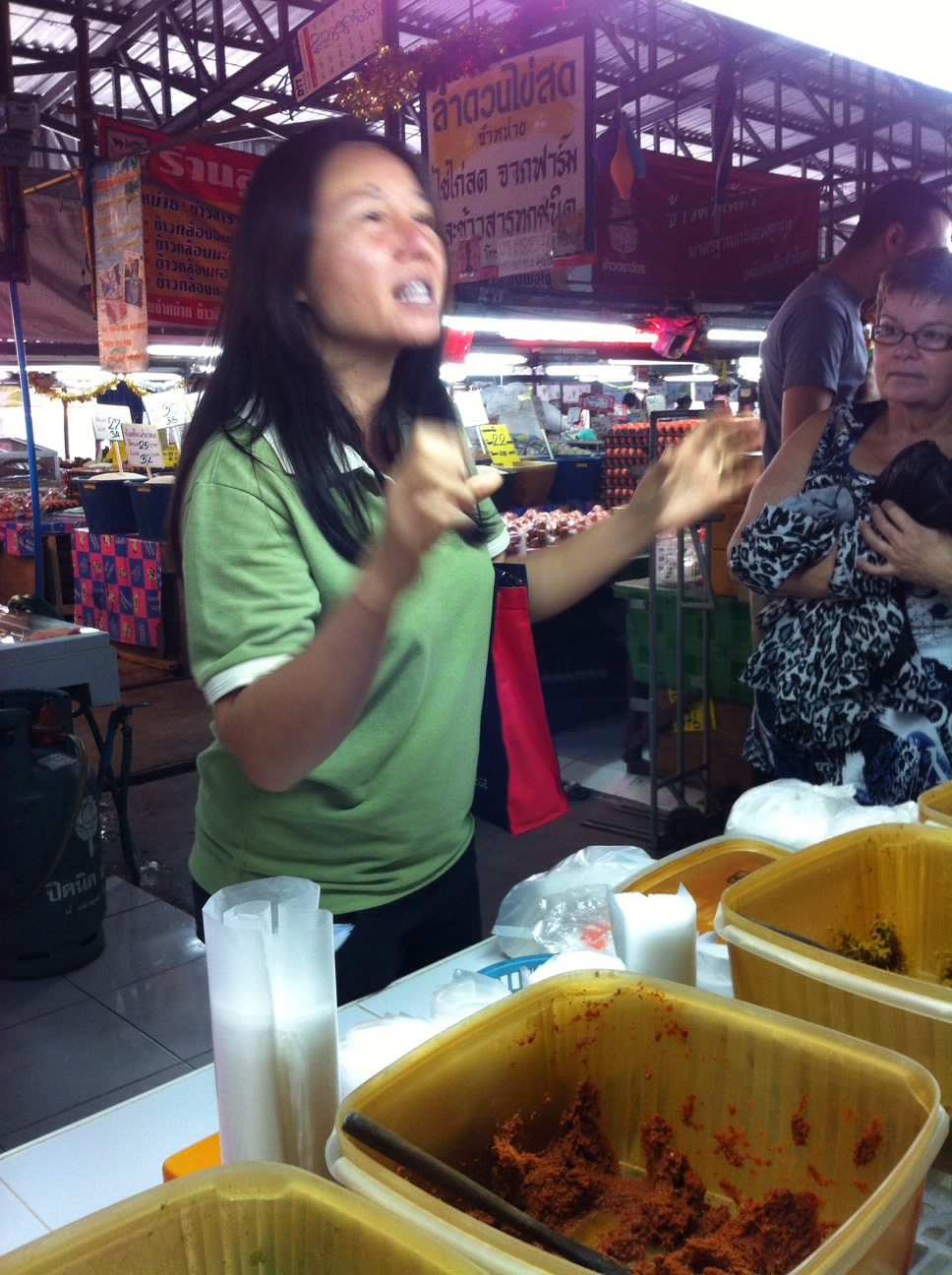 Embee got very excited about curry paste :)