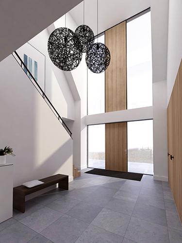 modern landelijk villa woning huis architect zelfbouw kavel strak erker stuc riet rieten dak hoogkarspel streekweg noord holland traditioneel architectuur luxe NOMAA.jpg