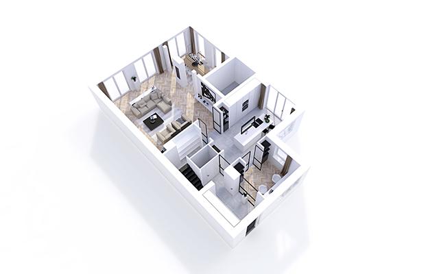 NOMAA den haag leidscheveen verbouwing uitbouw zelfbouw kavel interieur architect eetkamer woonkamer stijlvol wonen luxe modern landelijk strak warm licht ruimtelijk visgraat zwart wit_4.jpg