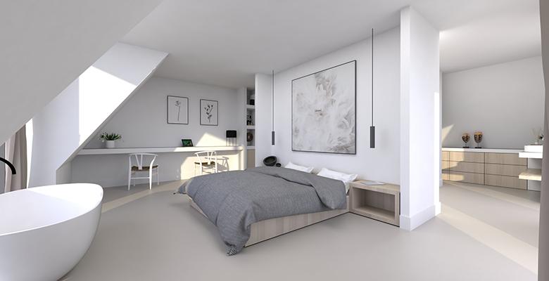 NOMAA noord holland streekweg hoogkarspel modern landelijk villa woning huis architect zelfbouw kavel strak erker stuc riet rieten dak stijlvol wonen architectuur luxe slaapkamer.jpg