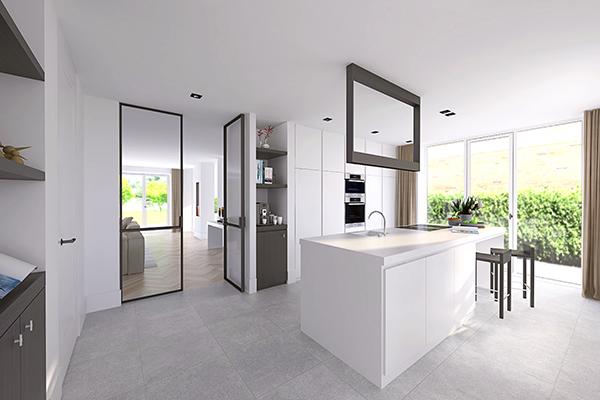 NOMAA den haag leidscheveen verbouwing uitbouw zelfbouw kavel interieur architect keuken bulthaup stijlvol wonen luxe modern landelijk strak warm licht ruimtelijk visgraat zwart wit_2.jpg