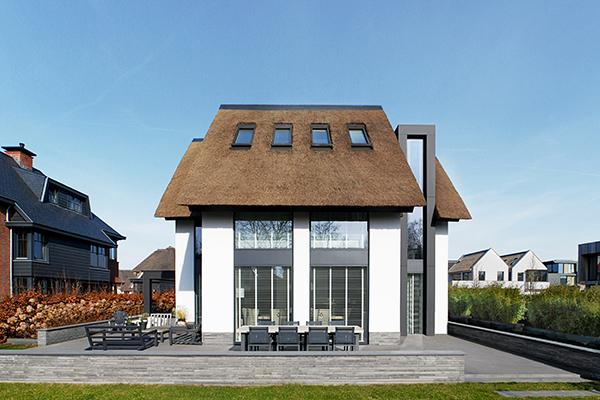 NOMAA haringbuys aerdenhout n201 zandvoorterweg gezina van der molenlaan stijlvol wonen modern landelijk strak dakkapel architect zelfbouw kavel rieten dak luxe villa woning 2.jpg