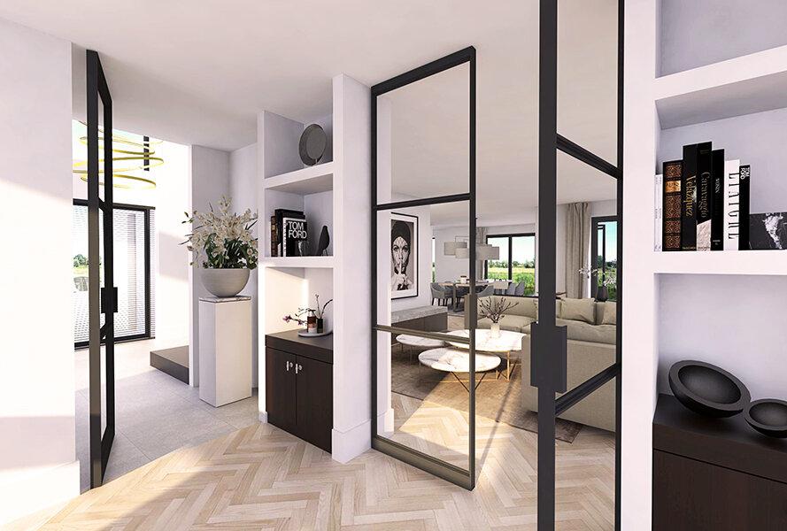 NOMAA interieur luxe strak landelijk modern eigentijds wit licht houten vloer visgraat donkere stalen kozijnen architect ontwerper stijlvol wonen 1.jpg