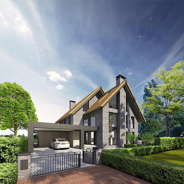 NOMAA modern landelijk luxe strakke eigentijdse tijdloze villa woning huis riet rieten dak baksteen kolumba metselwerk architect zelfbouw kavel amstelveen 1.jpg