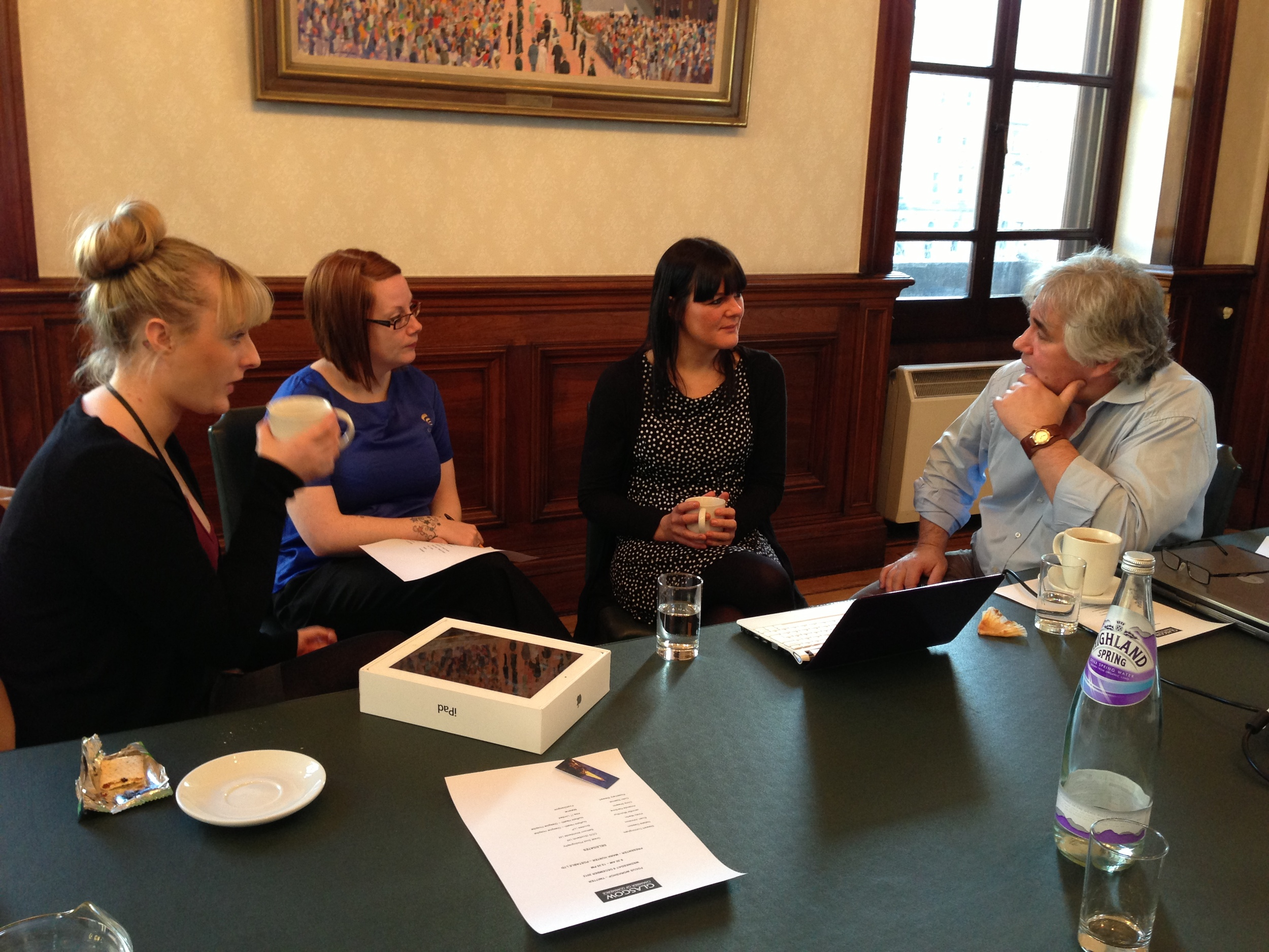 Focus on Twitter hands-on training session for Glasgow Chamber of Commerce