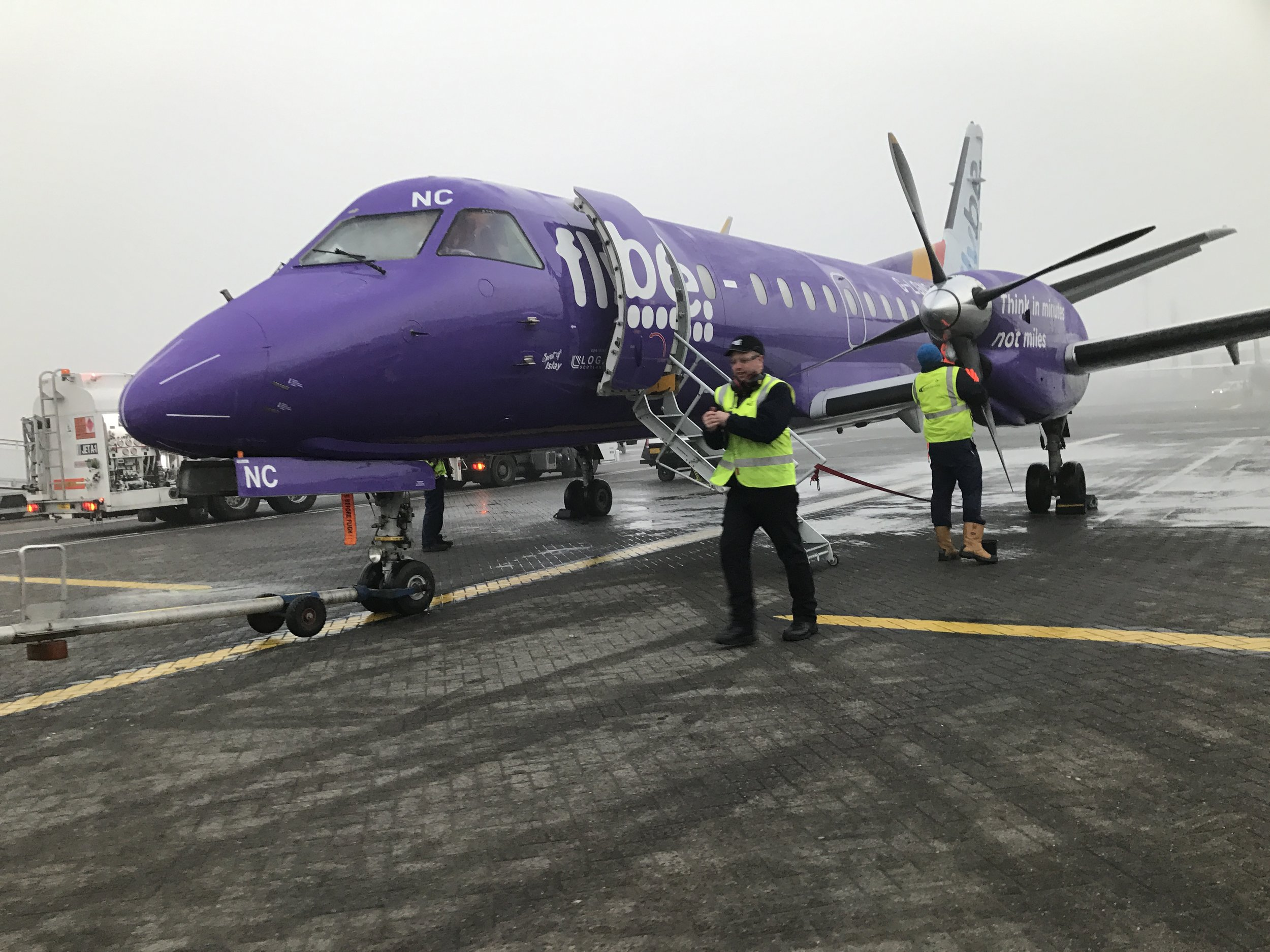 glasgow to islay flight for digital tourism scotland november 2016