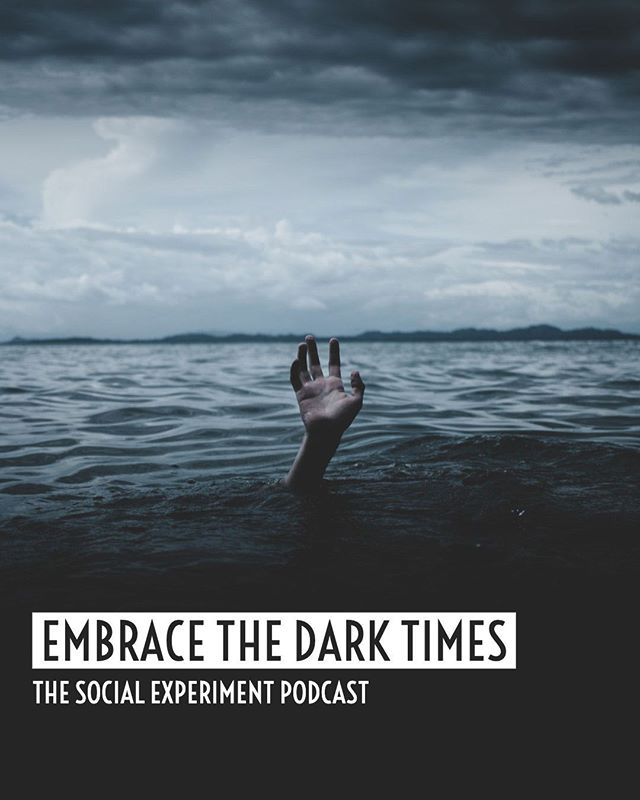 When life takes a dark turn, how do you respond? Embracing that experience is healthy! Fact. We discuss this topic on Ep 03 of the Social Experiment Podcast - link in bio.⠀ ⠀ What's your take on hiding or avoiding the dark times in life? ⠀ ⠀ #podcast #podcasting #podcasters #mindset #personaldevelopment #psychology #lifeexperiences #realitycheck #lifelessons #socialexperimentpodcast