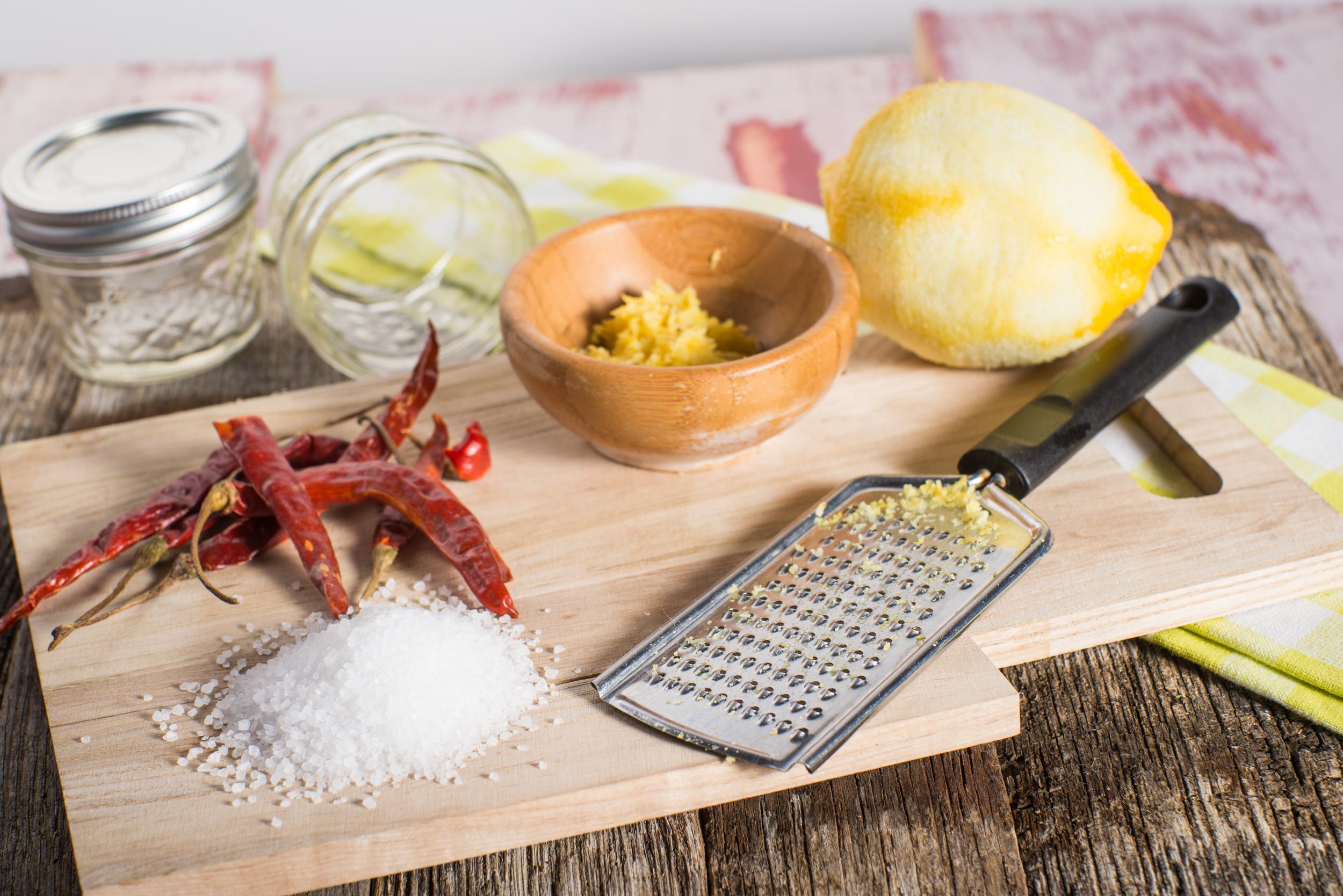 Citrus and chili sea salt