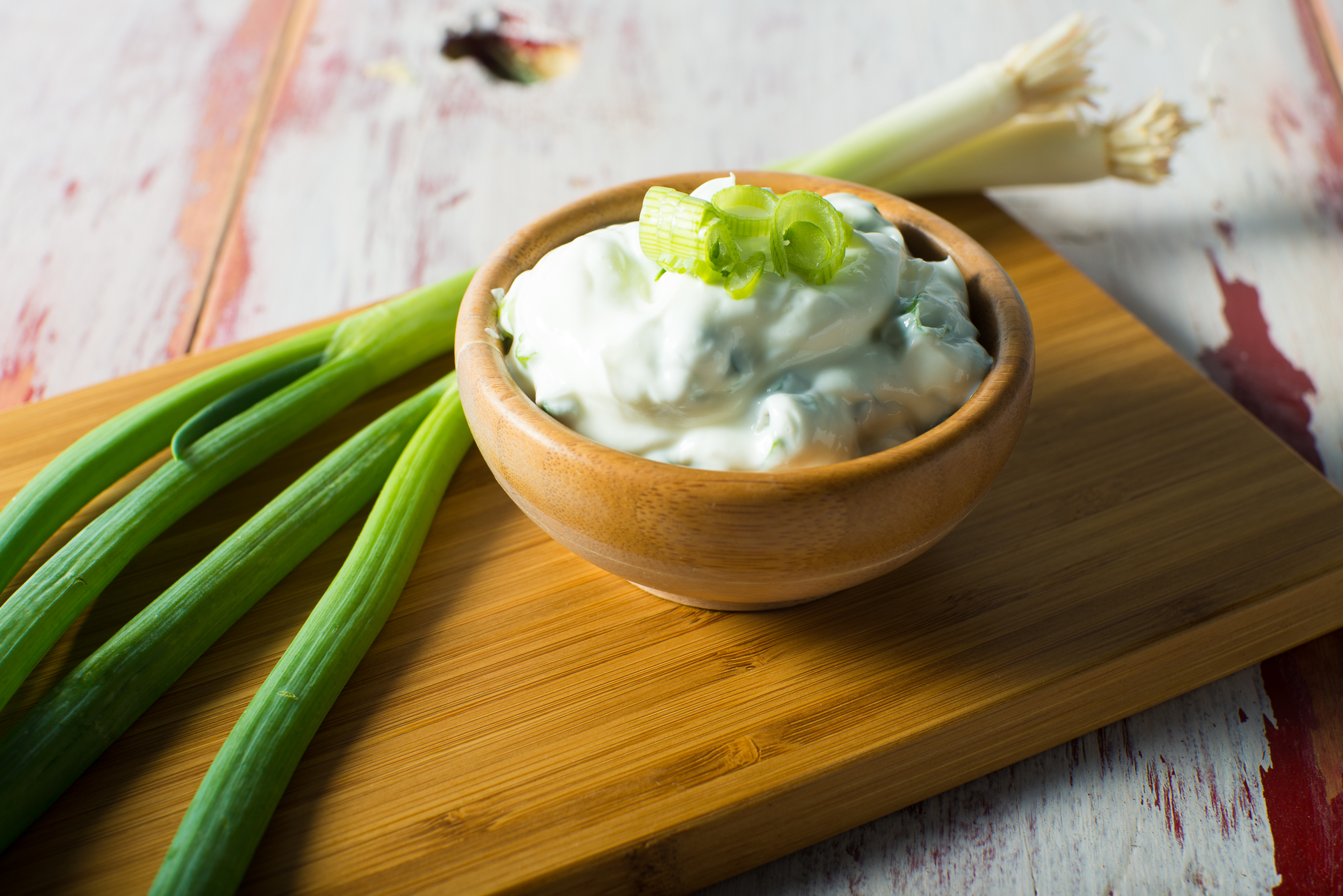 Greek Yogurt and Green Onion