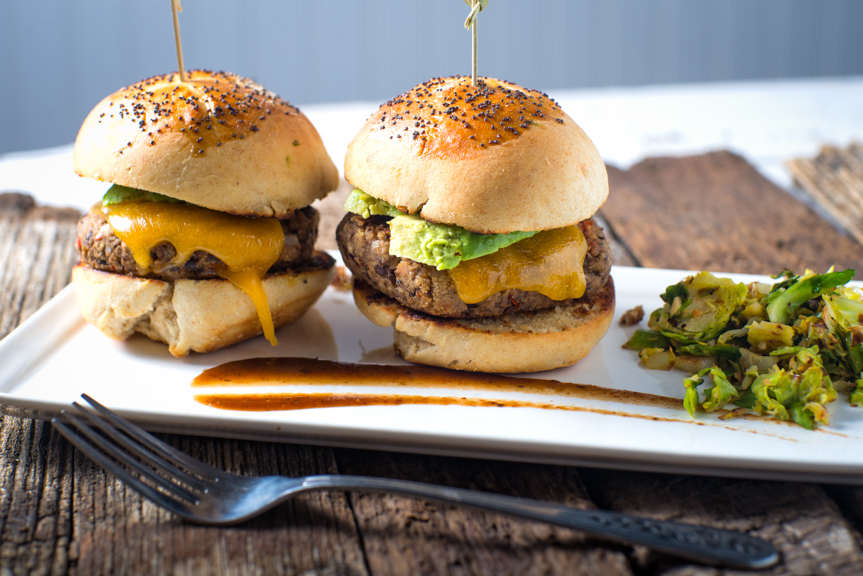 Veggie sliders with homemade buns to elevate an easy meal.