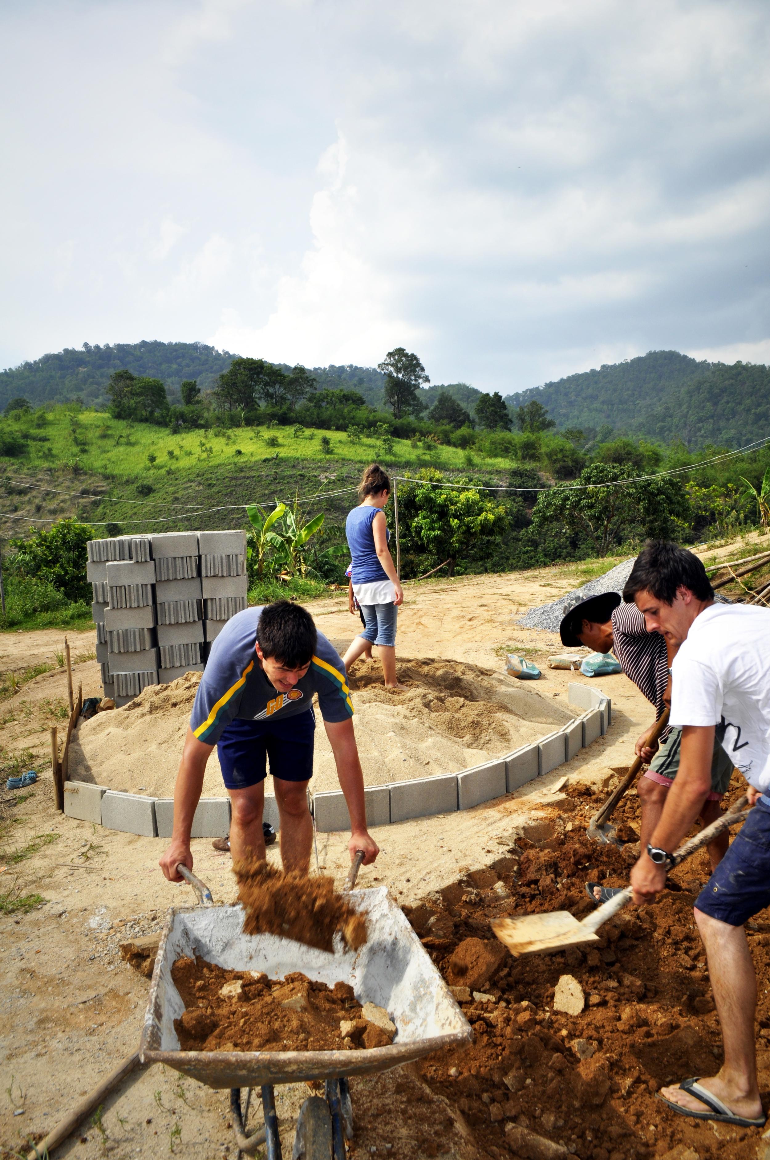 Building a church in an Ahka hill tribe