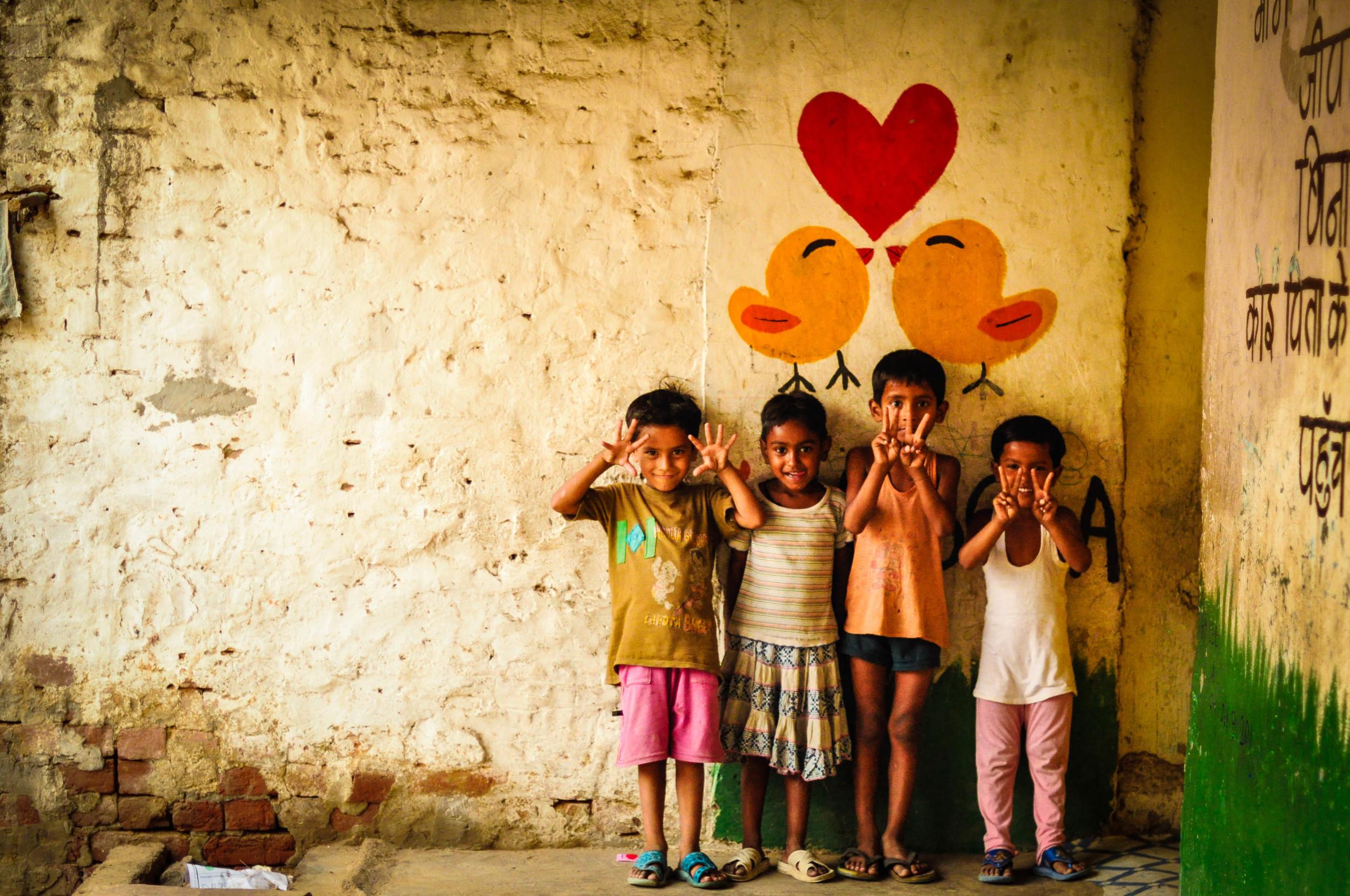 Preschool. Jasola Slum, India