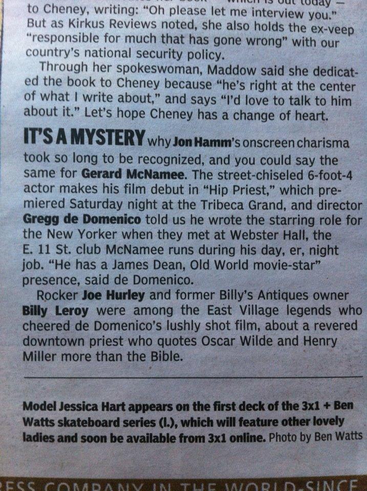 NY Daily News, March 27, 2012, Rush & Molloy