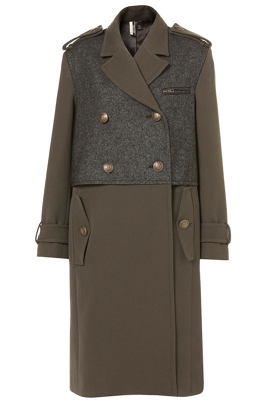 "a ""premium military"" coat from Topshop"