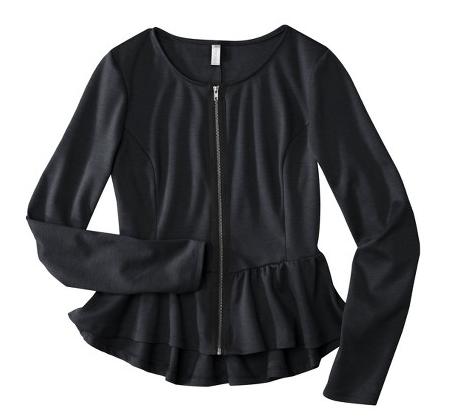 a peplum (!) jacket from Target