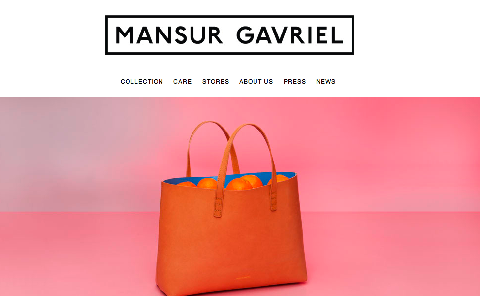 Mansur Gavriel's killer branding - Second Floor Flat