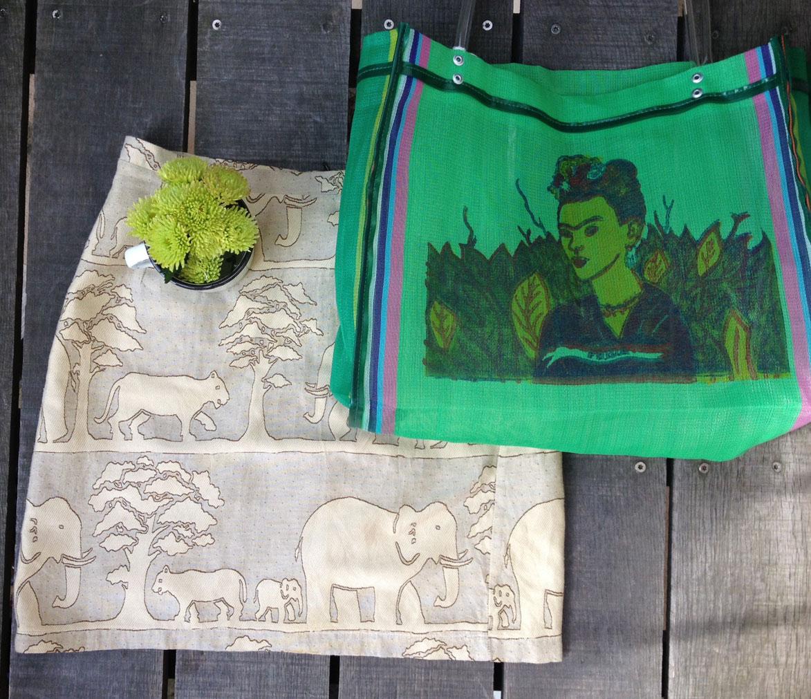 Traid Animal Skirt + Frida Bag / Second Floor Flat