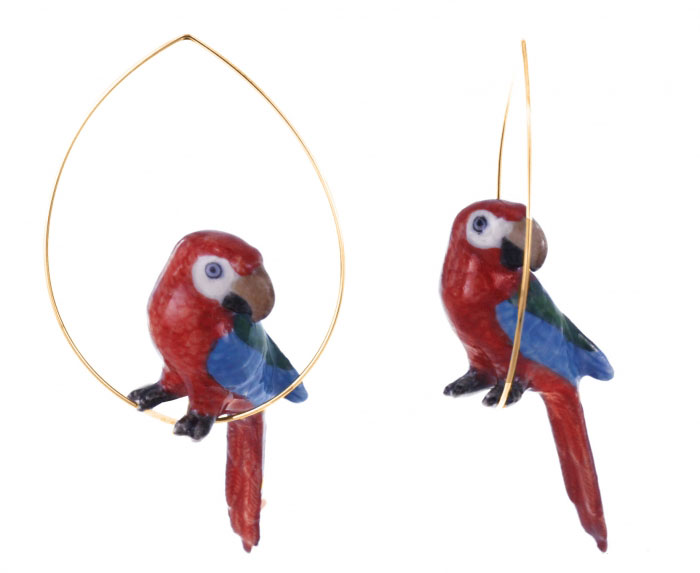 Nach Jewelry-Parrot Earrings / Second Floor Flat