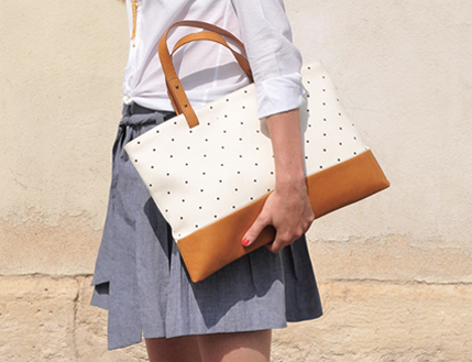 SEZANE Leather Tote / Second Floor Flat