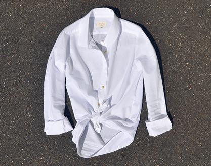 Tomboy White Button-Up Shirt / Second Floor Flat