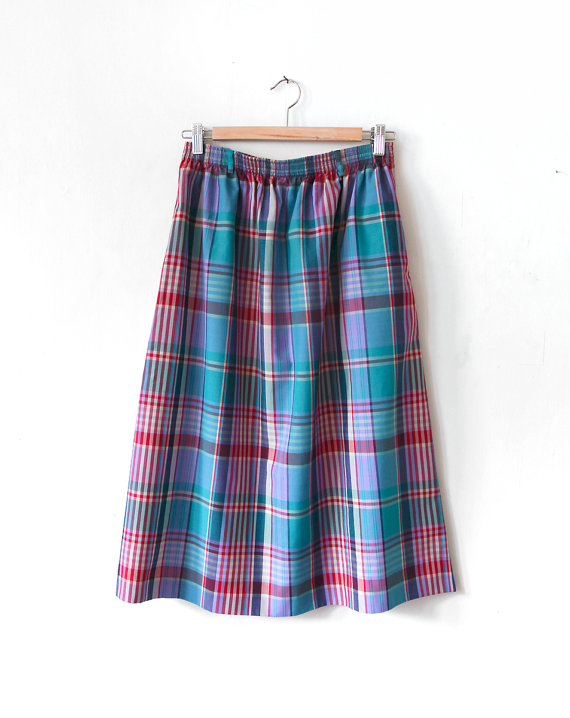 Vintage Plaid Skirt / The North East Find // Second Floor Flat