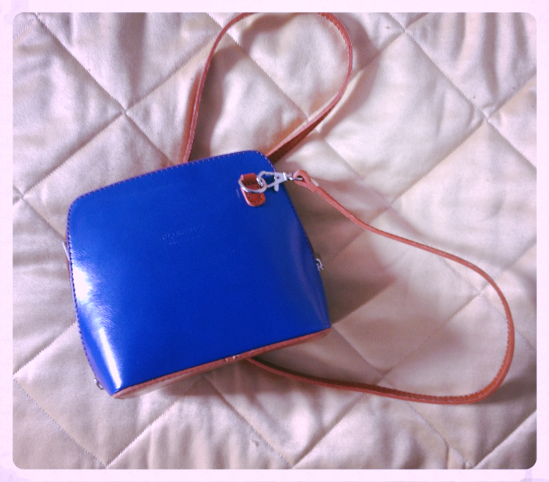 Blue Leather Handbag from Nice / Second Floor Flat