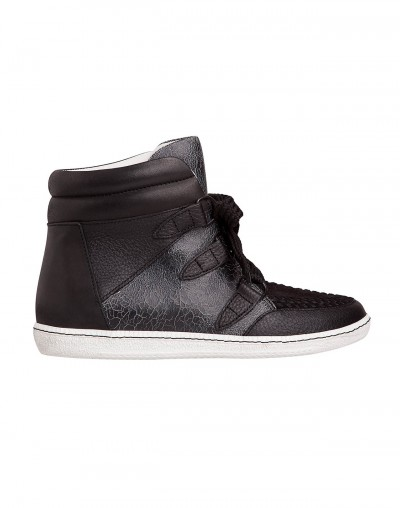 Sandro Amandine Crackled High Tops / Second Floor Flat