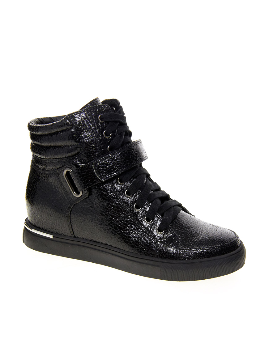 ASOS Black Ditto High Top Sneakers / Second Floor Flat