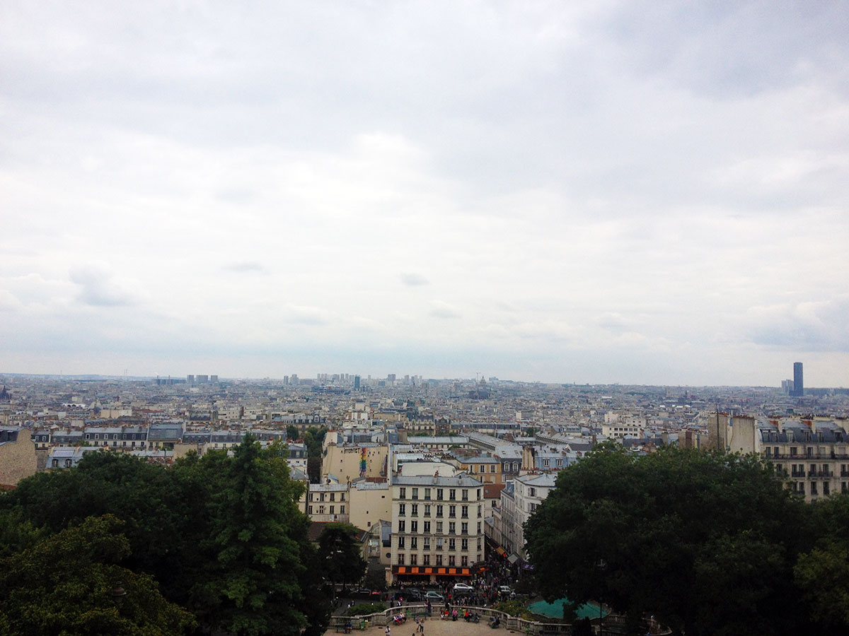 A view of Paris from Montmartre / Second Floor Flat