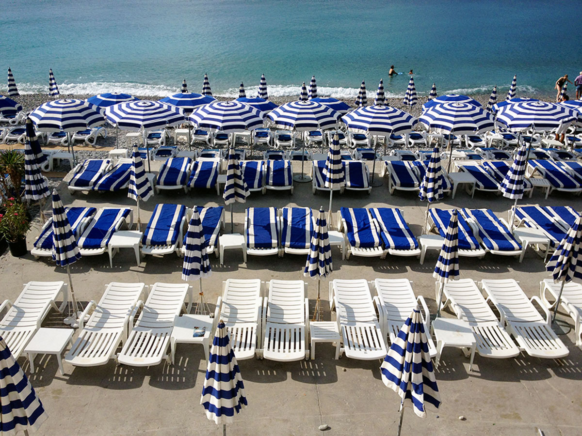 Beach chairs in Nice, France / Second Floor Flat