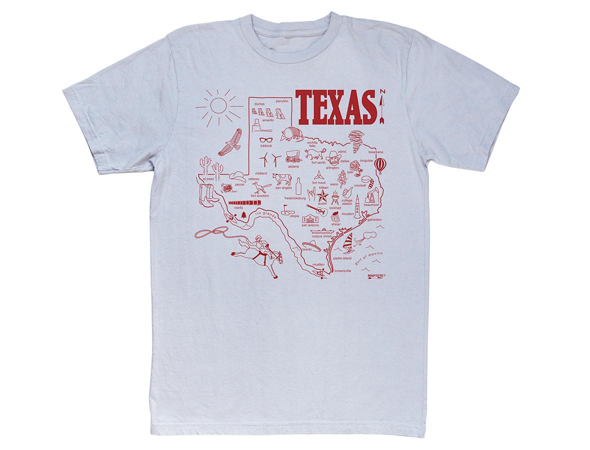 Maptote T-Shirt / Texas // Second Floor Flat