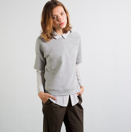 Everlane Raglan Short Sleeved Sweatshirt