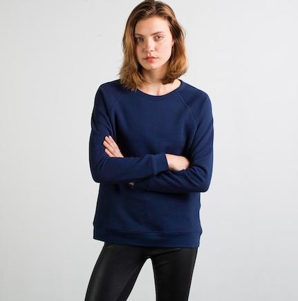 Everlane Raglan Boat Neck Sweatshirt