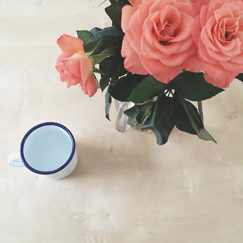 peach roses   secondfloorflat.com