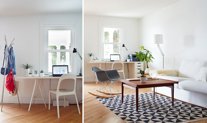 The home of  MInima , professional minimalist + organizer extraordinaire, also inspired my challenge