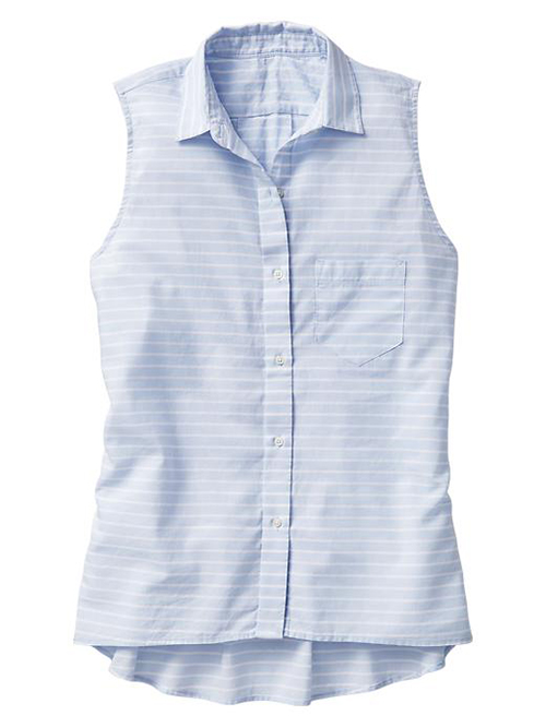 This  Gap Stripe Sleeveless Shirt