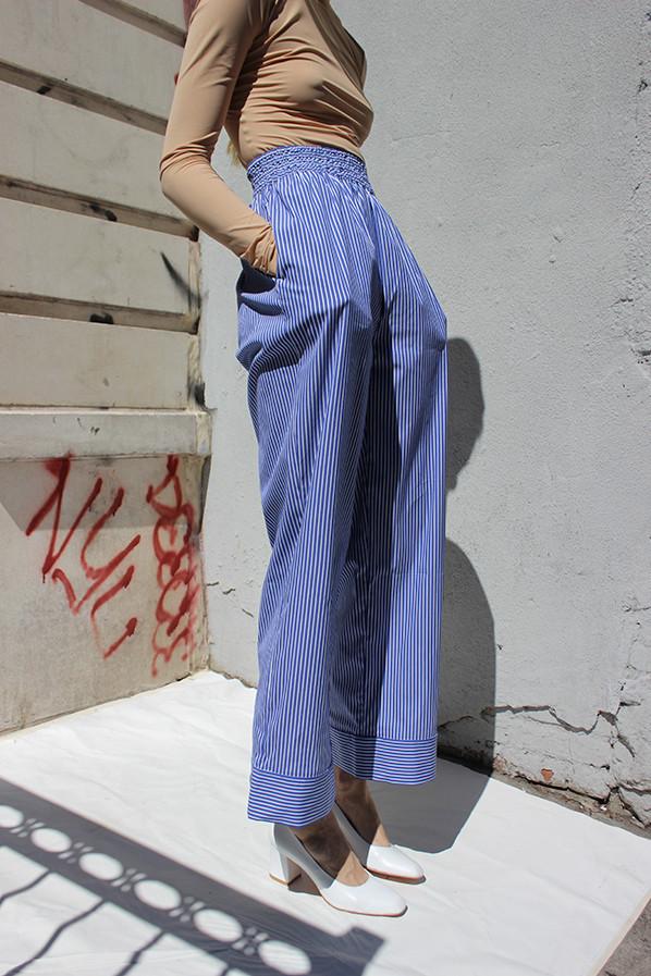 ACNE Striped Wide Leg Pants via Maryam Nassir Zadeh