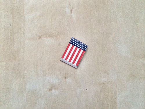 American flag matches // Second Floor Flat