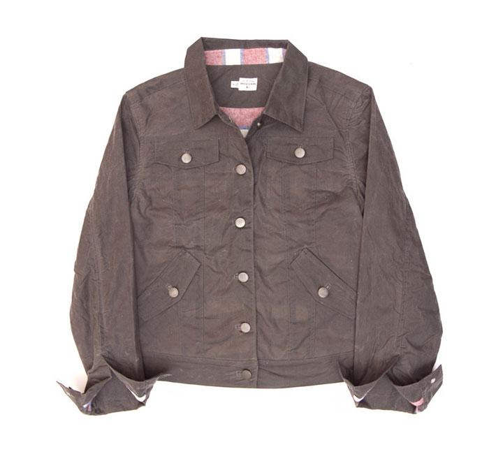 alvord grey waxed jacket  by bridge & burn
